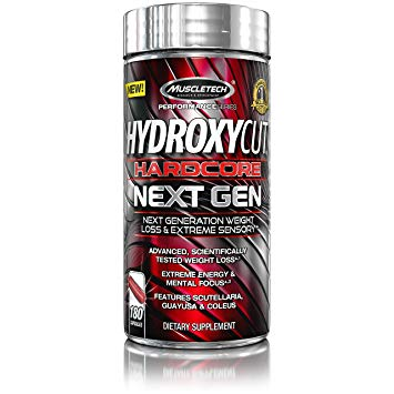 MuscleTech Hydroxycut Hardcore Next Gen - • Super-thermogenic• Lose weight• Extreme energyHydroxycut Hardcore Next Gen supports increased focus with its key thermogenic driver.Hydroxycut Hardcore Next Gen features a supercharged thermogenic driver (caffeine anhydrous) in combination with other sensory-enhancing ingredients, including Coleus forskohlii and L-theanine, to deliver a one-of-a-kind sensory experience.Potent thermogenic driver (caffeine anhydrous) also jacks up energy levels for a boost in intensity – even after just one dose.