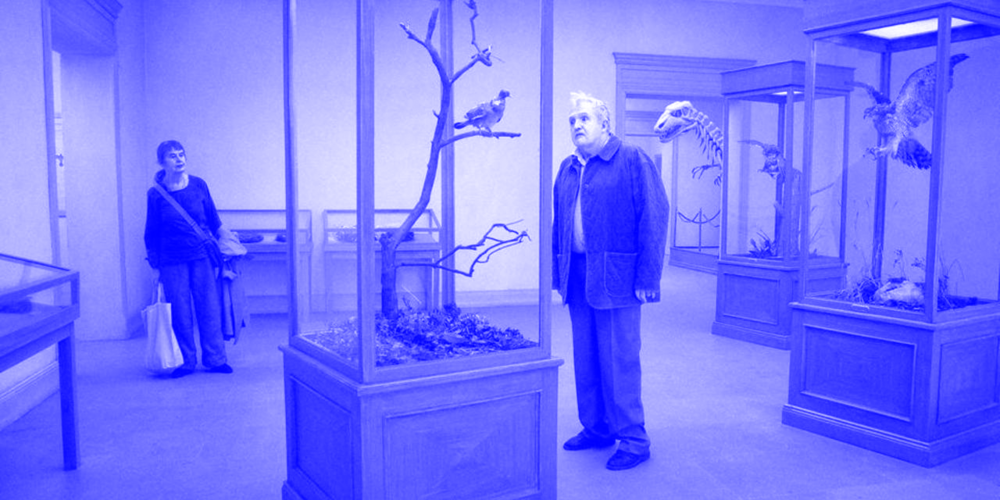 Still from ' A Pigeon Sat on a Branch Reflecting on Existence', directed by Roy Andersson.