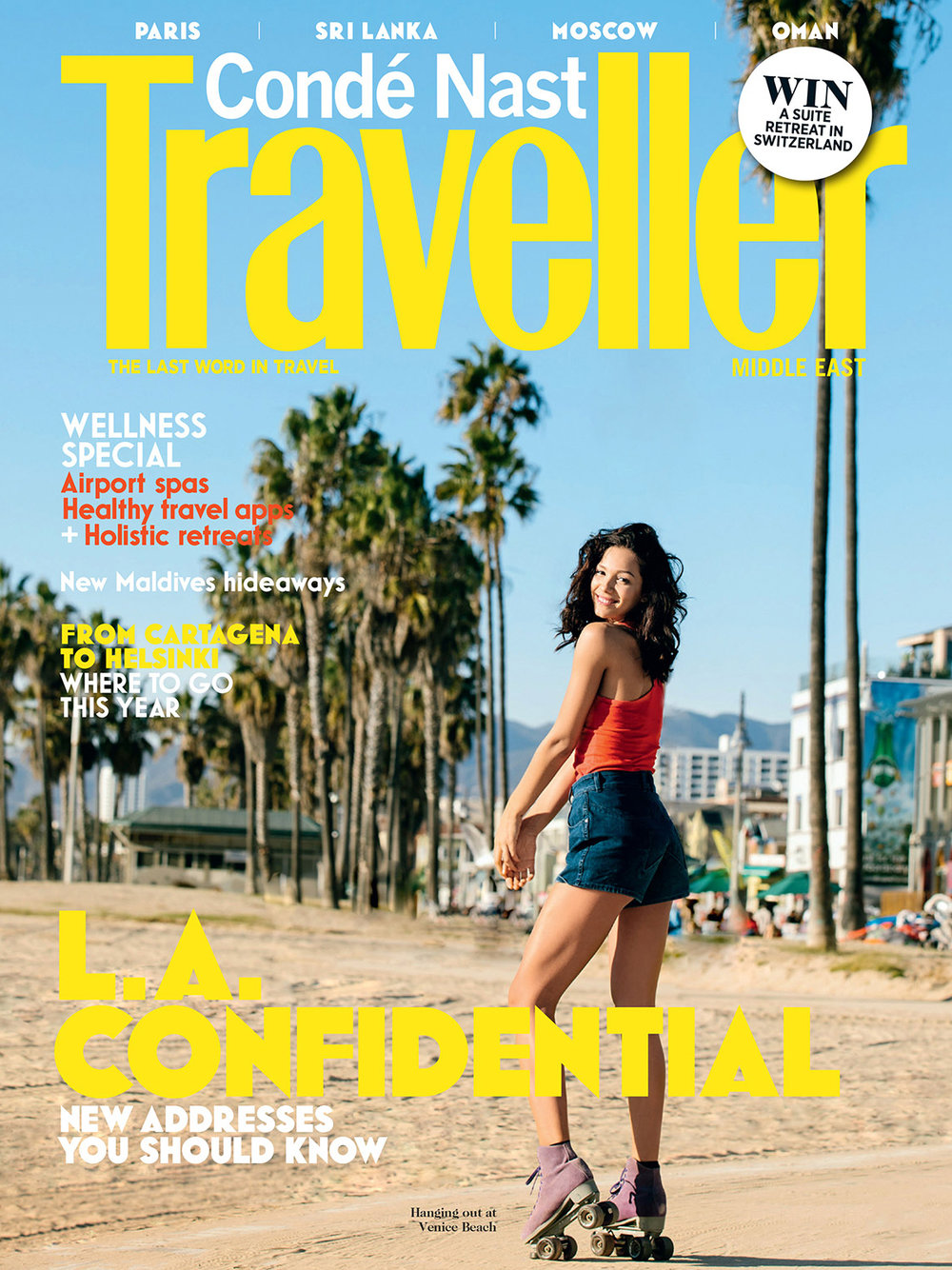 Condé Nast Traveller ME - Cover Photography - January 2017