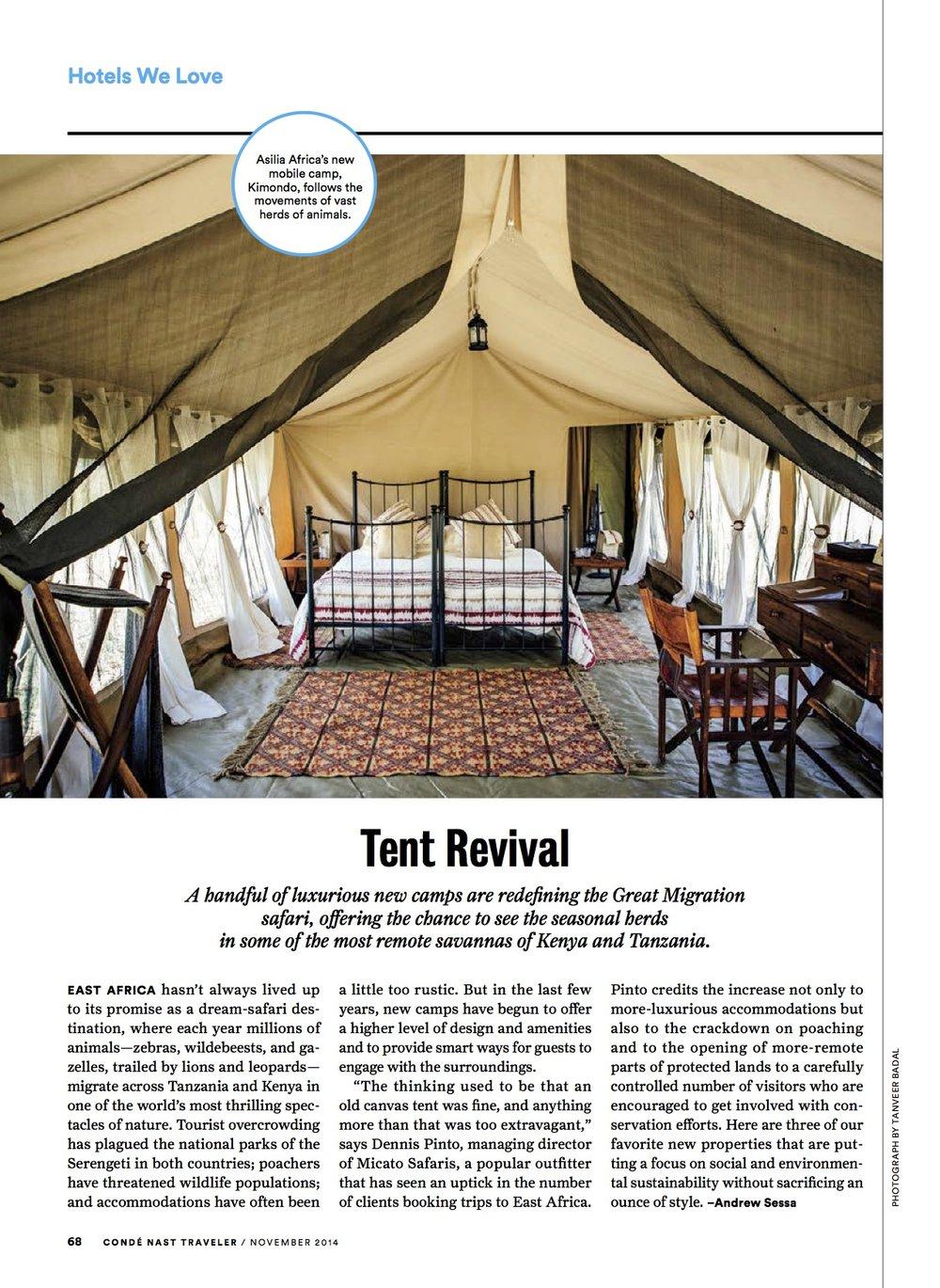 """Condé Nast Traveler - """"Tent Revival"""""""