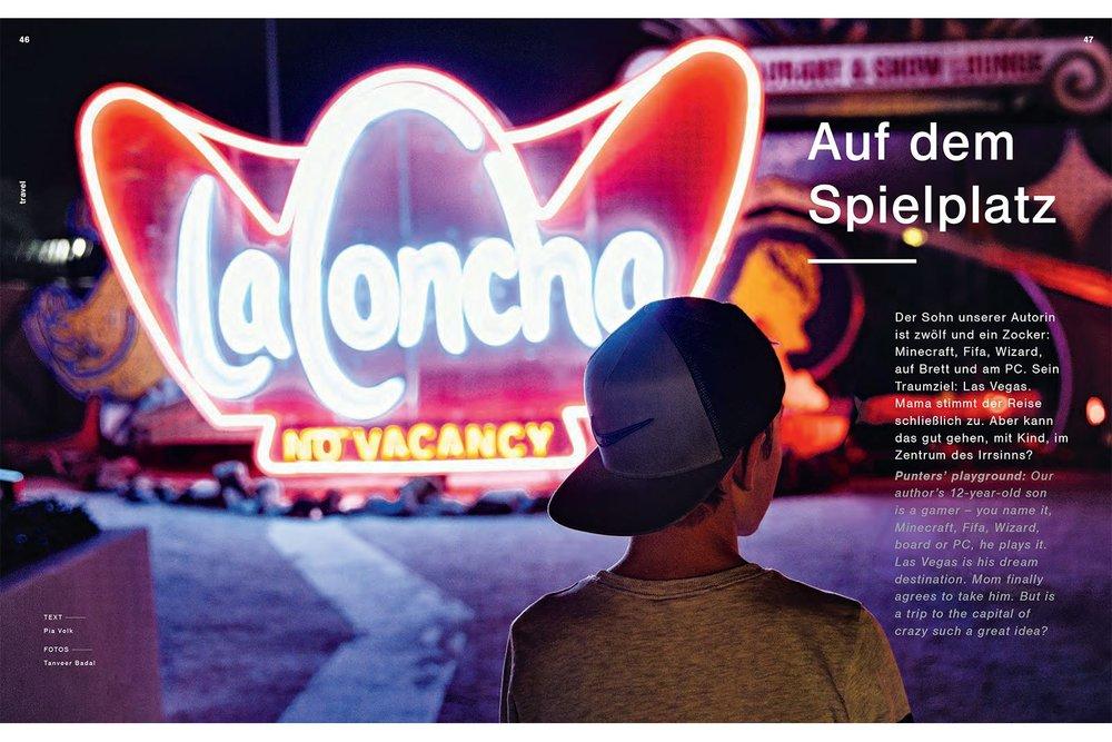 "Lufthansa Magazine - Las Vegas  ""Punters' Playground"""