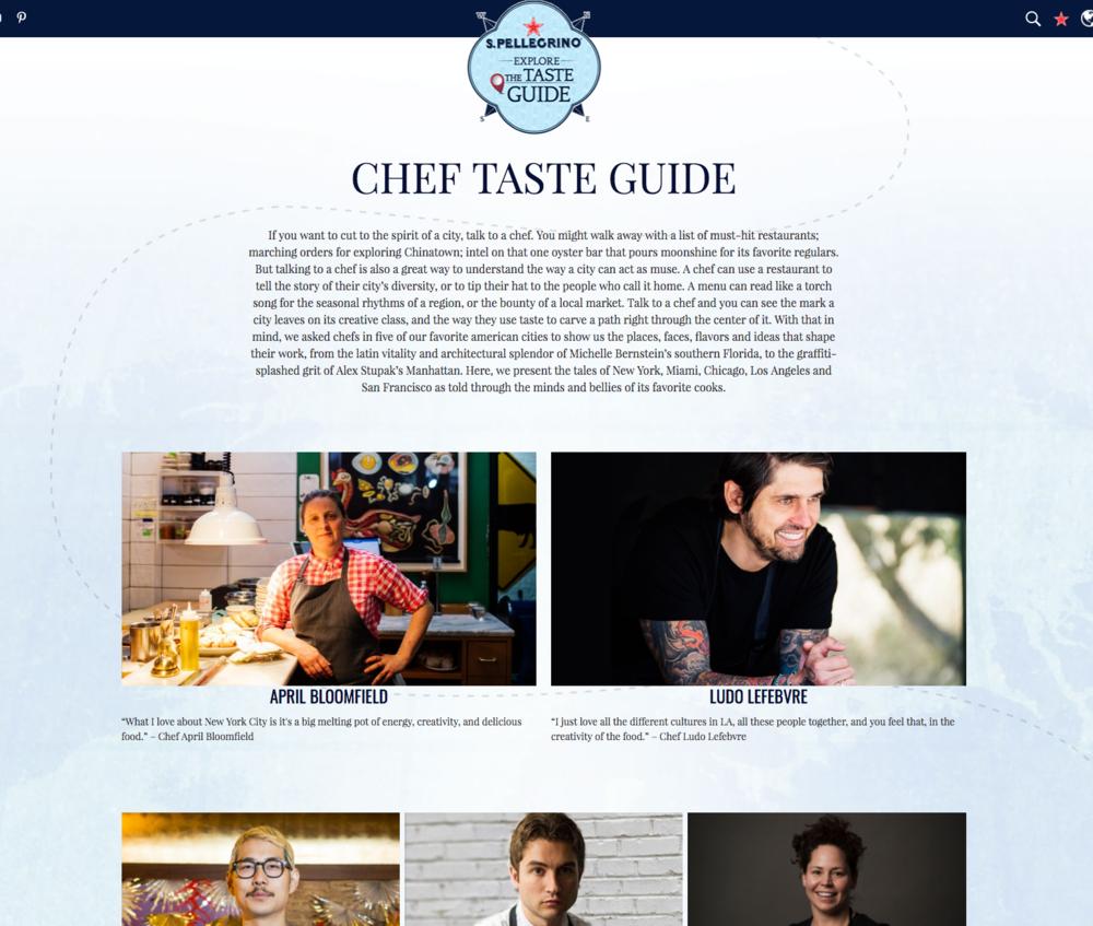 San Pellegrino - Chef Taste Guide