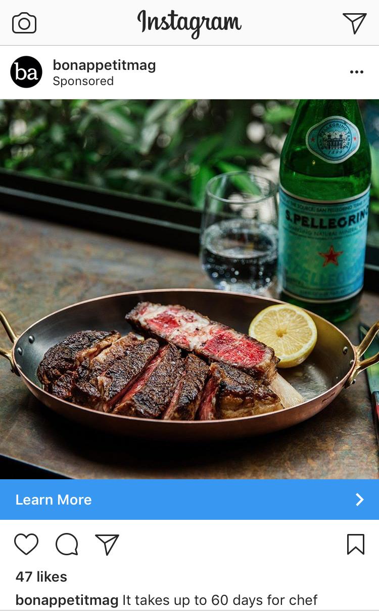 San Pellegrino + Bon Appétit - Social Media Advertisements