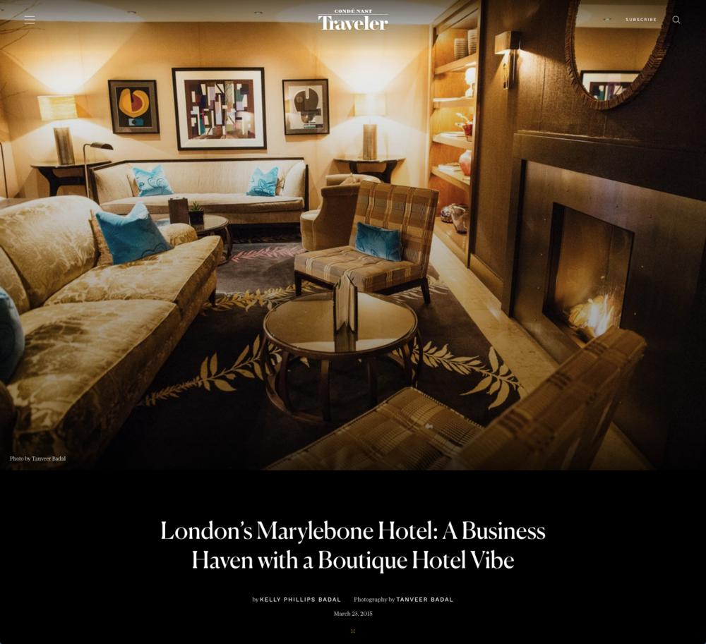 "Condé Nast Traveler -  ""London's Marylebone Hotel"""
