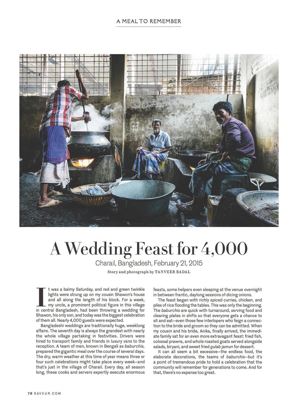 "Saveur Magazine - ""A Wedding Feast for 4,000"""