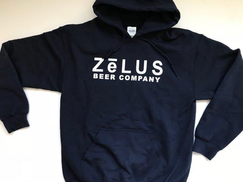 db353bb9d Navy Hooded Sweatshirt — Zelus Beer Company