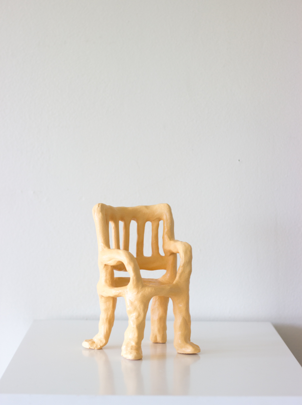 Chair # five  ceramic and satin varnish