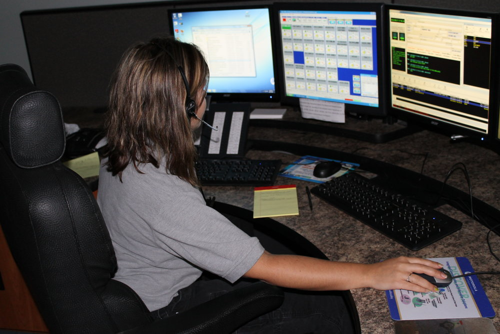 Dispatcher Anna Kercewich.