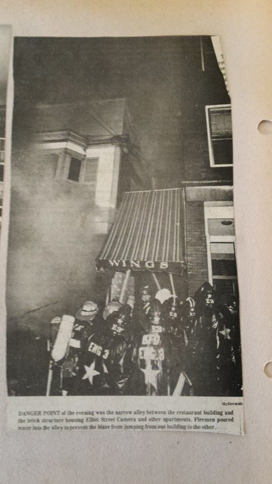 Via Condotti Restaurant fire on Elliott St in March 1978.