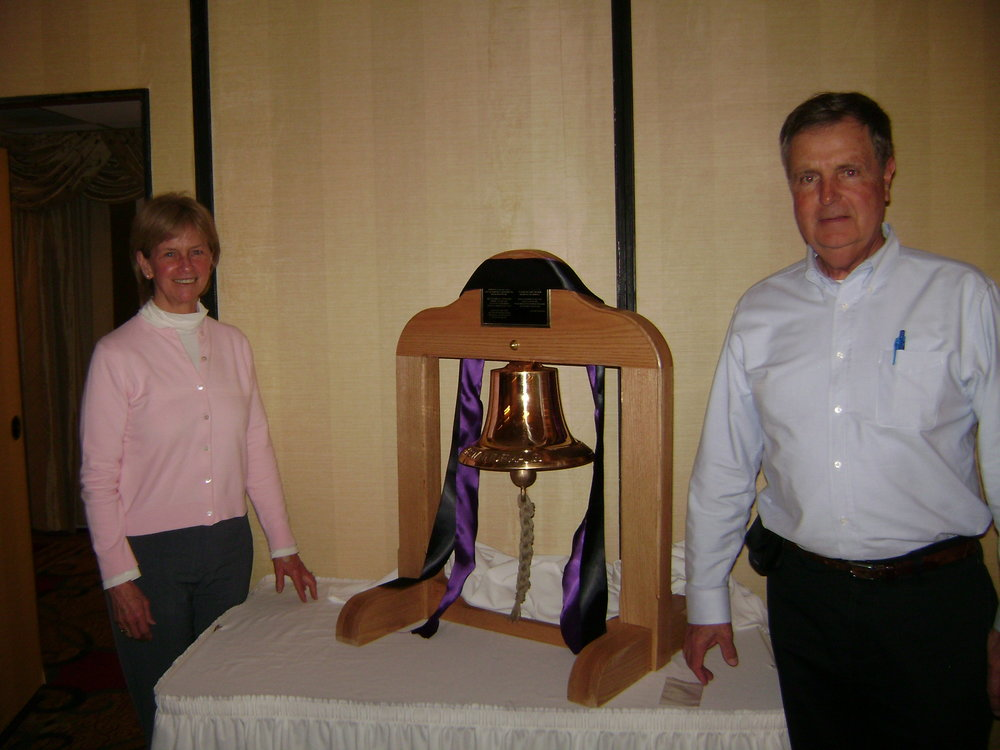 Bob and Rachel Bartlett donated this bell to Fire Mutual Aid in 2011