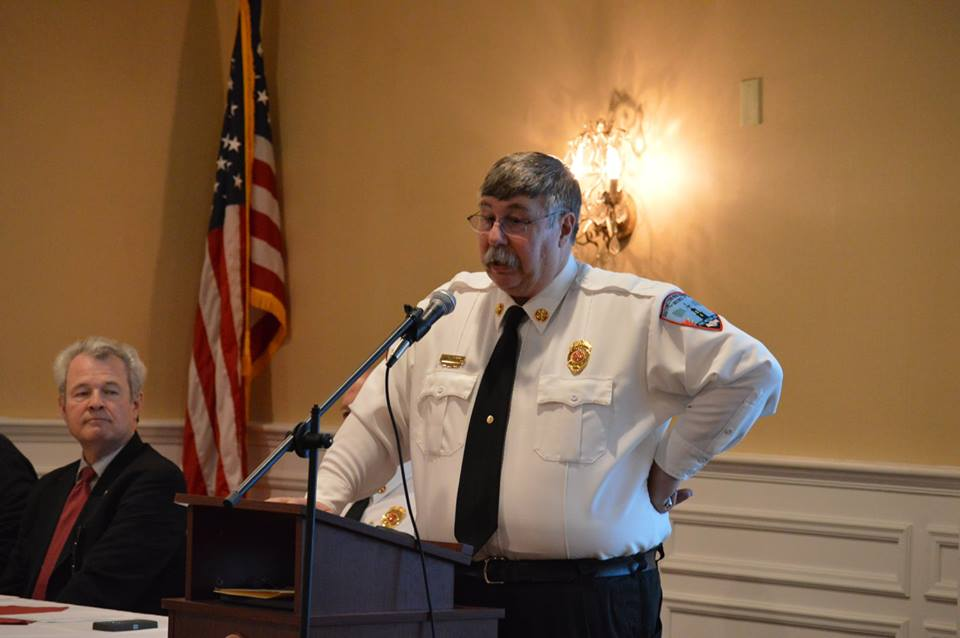 Chief Tirrell welcomes the membership. 2018