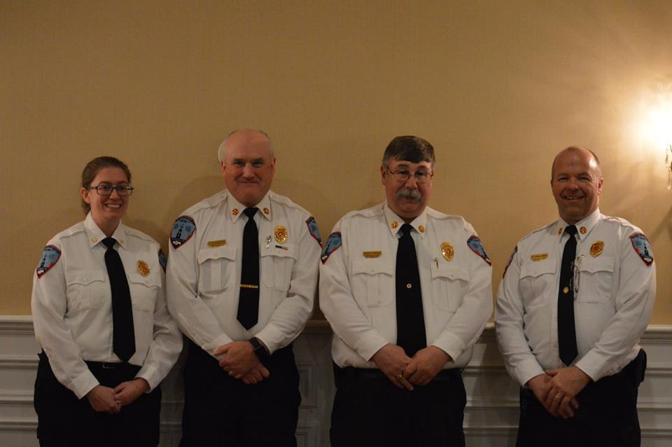 Deputy Lunderville, Deputy Redin, Chief Tirrell and Deputy Sangermano. 2018