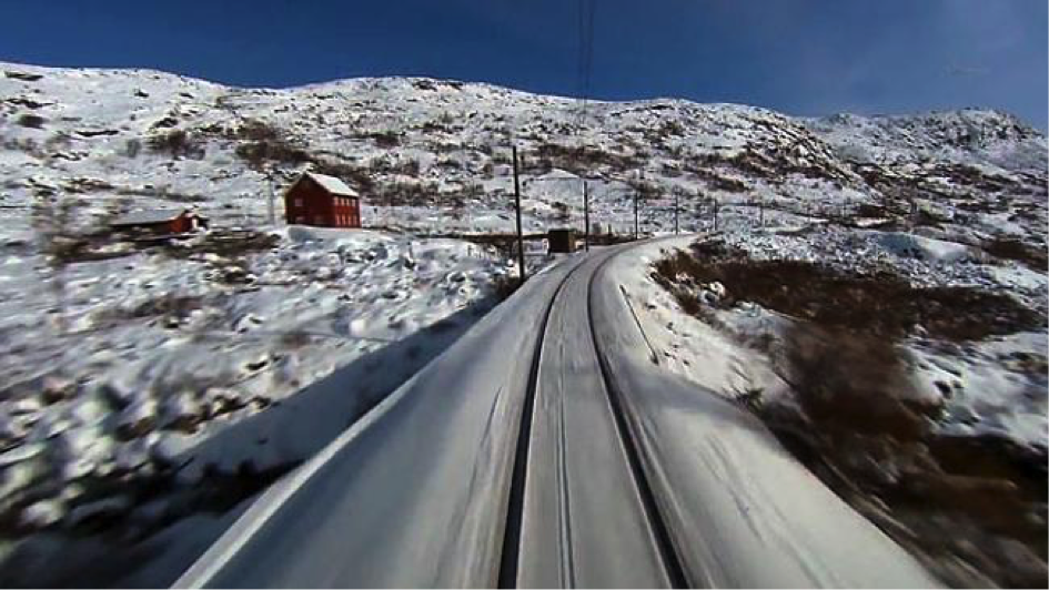 "Example ""Slow TV"": a five-day long train ride at 22 km/h (© nrk)"