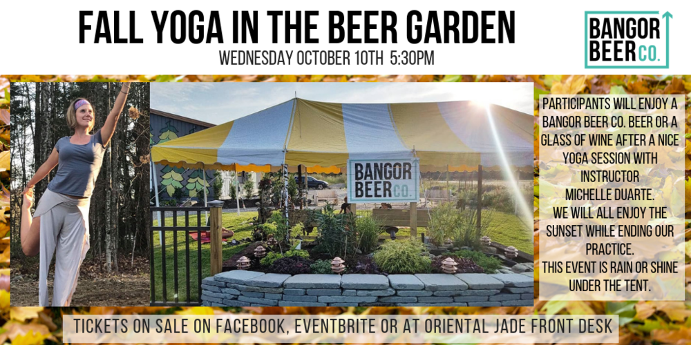 For tickets:  https://www.eventbrite.com/e/fall-yoga-in-the-beer-garden-with-michelle-duarte-tickets-50510742992