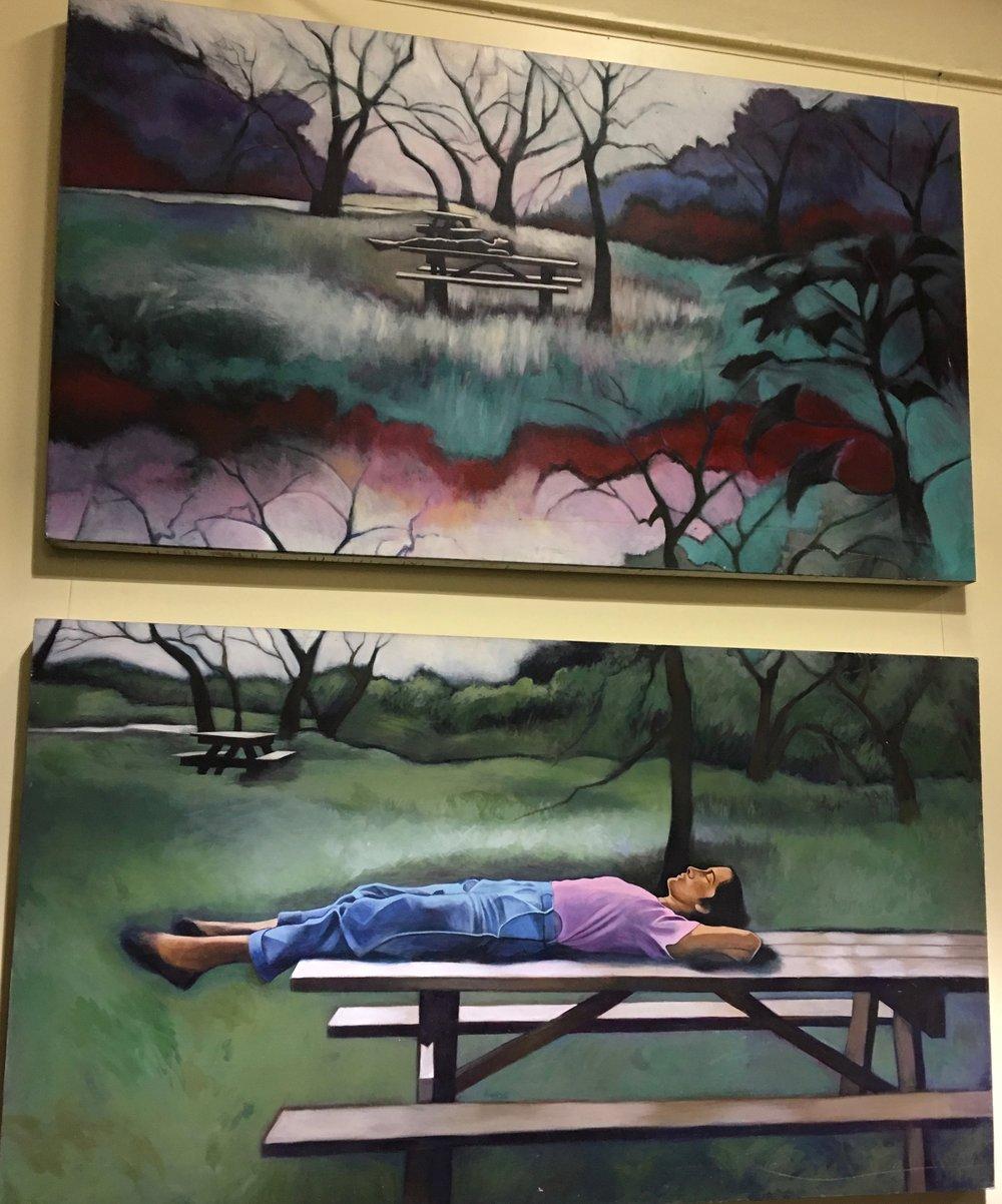 Ilene Takes a Nap (diptych)