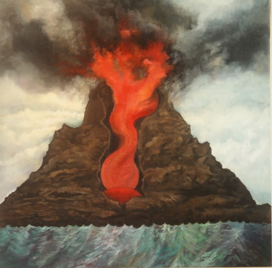 Vesuvius Erupts                                                oil on canvas                                               Miriam Feldman