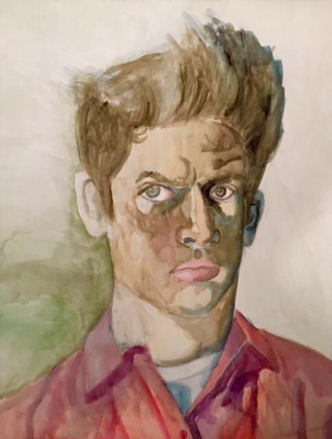 Self-Portrait at 14                  watercolor on paper               Nicholas O'Rourke