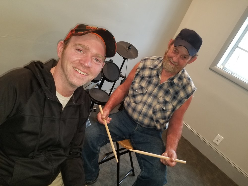 Drum Lessons - We have the only drum lesson room in Lewisburg, with abilities to play both acoustic and electric drum sets. Our drum instructors teach rock, metal, jazz, funk, blues, and many other styles. Drum language can be complex and our instructors will challenge any drummer with a wide variety of technical exercises designed to improve your speed and comfort. All drummers bring in their favorite drum parts to learn in their lessons, and theory is encouraged. We have many drum students who play in local bands and churches. You do not have to purchase a drumset to take lessons. Students are given a set of sticks upon enrollment and can practice on many surfaces or a drum pad. Students use our drum set at lessons and do not have to bring anything except their sticks and a notebook.