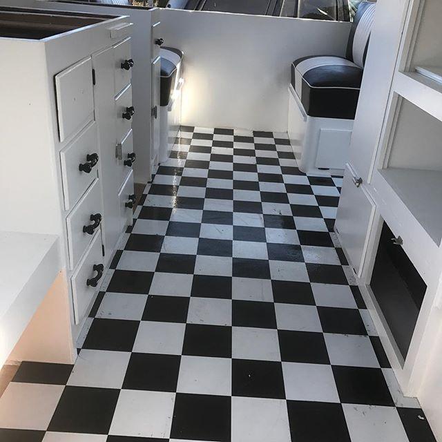 Black n white vintage trailer 1953 Aljoa
