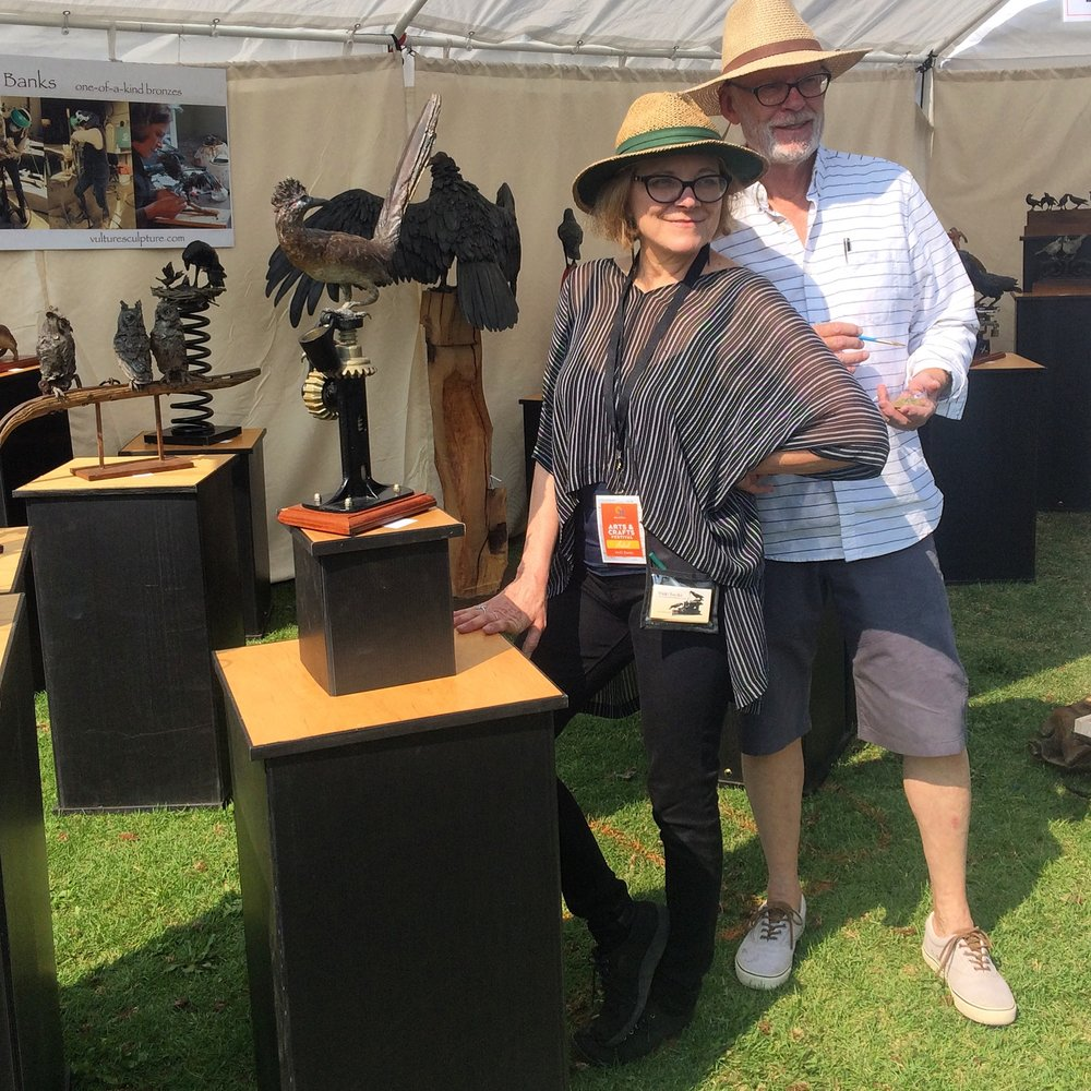 Vicki Banks and her husband Paul Shardlow at the 2017 Sun Valley Arts and Crafts Festival