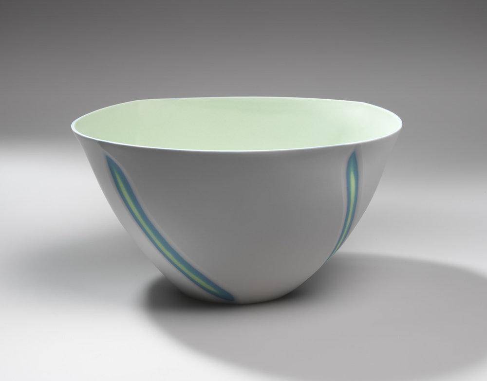 Large Lime Green bowl - 30 cm w