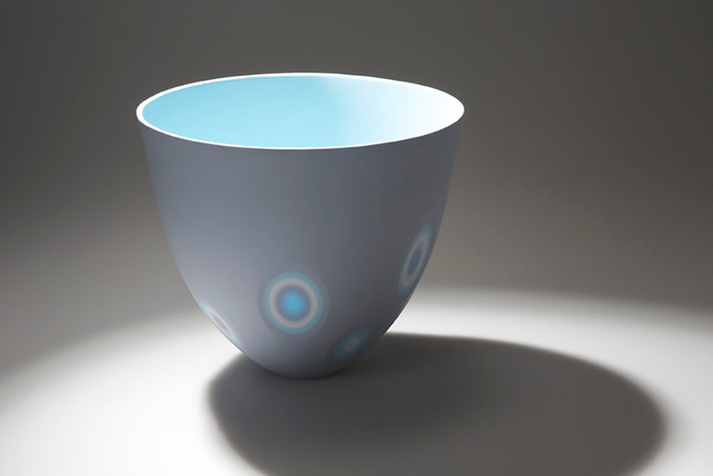 5 layers - Soft Lavender, Ice White, Azure Blue - 16 cm h
