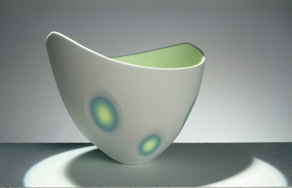 3 Layers - Ice White, Azure Blue, Lime Green - 11 cm h