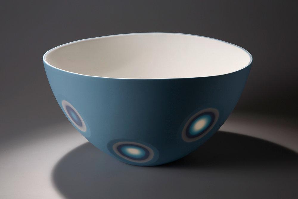5 Layers - Azure Blue, Ice white, Soft Lavender etc. - 38 cm wide