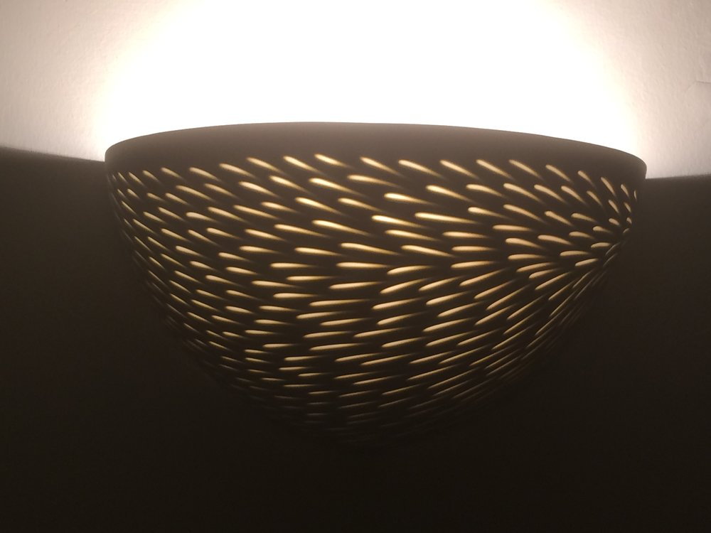 Sepia Taupe'Shoal' Wall light - 25 cm w