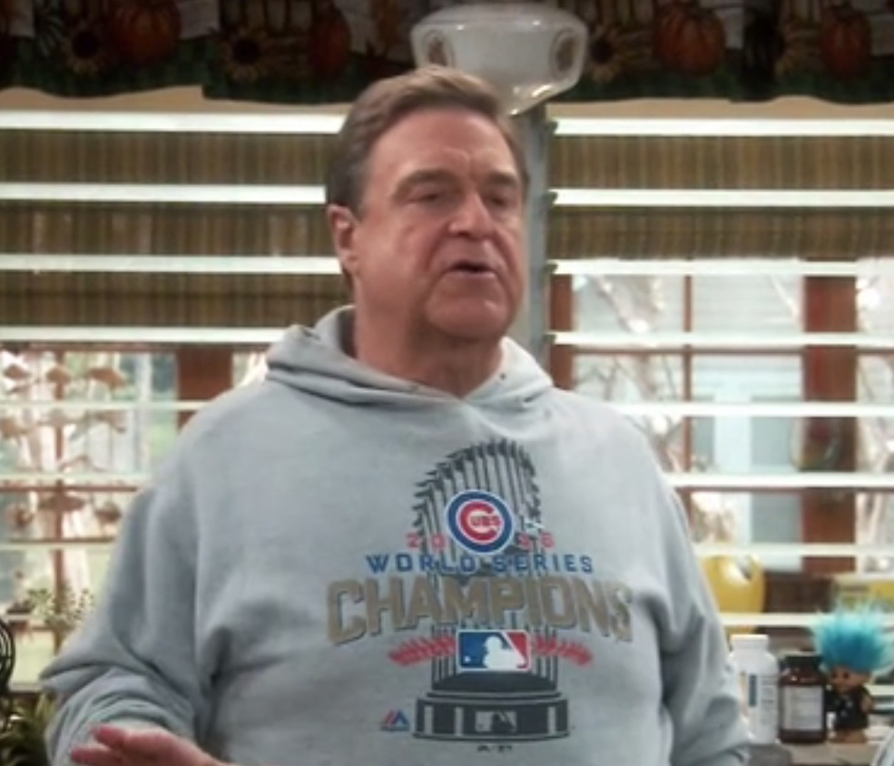 We wonder how much swag Dan owns commermorating the Cubbies' win