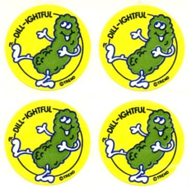 We give this episode a sticker grade of: scratch n sniff pickle