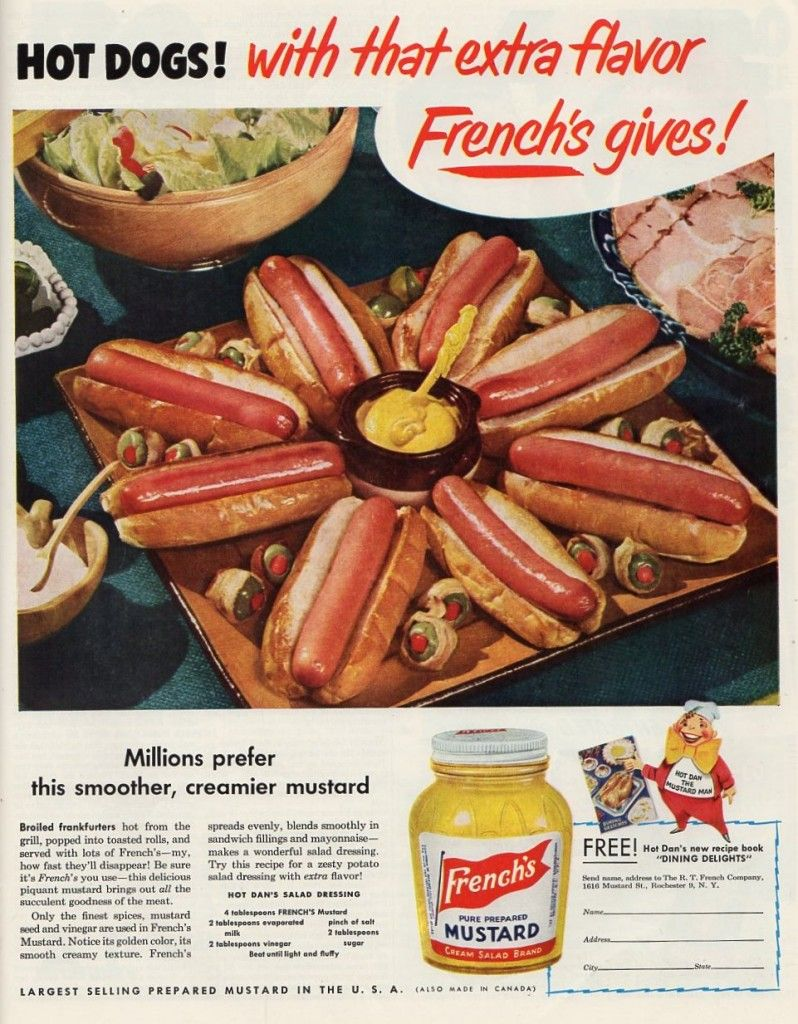 Serving cocktails wieners at a poker game made us think of the treasure trove of 50s recipes out there.