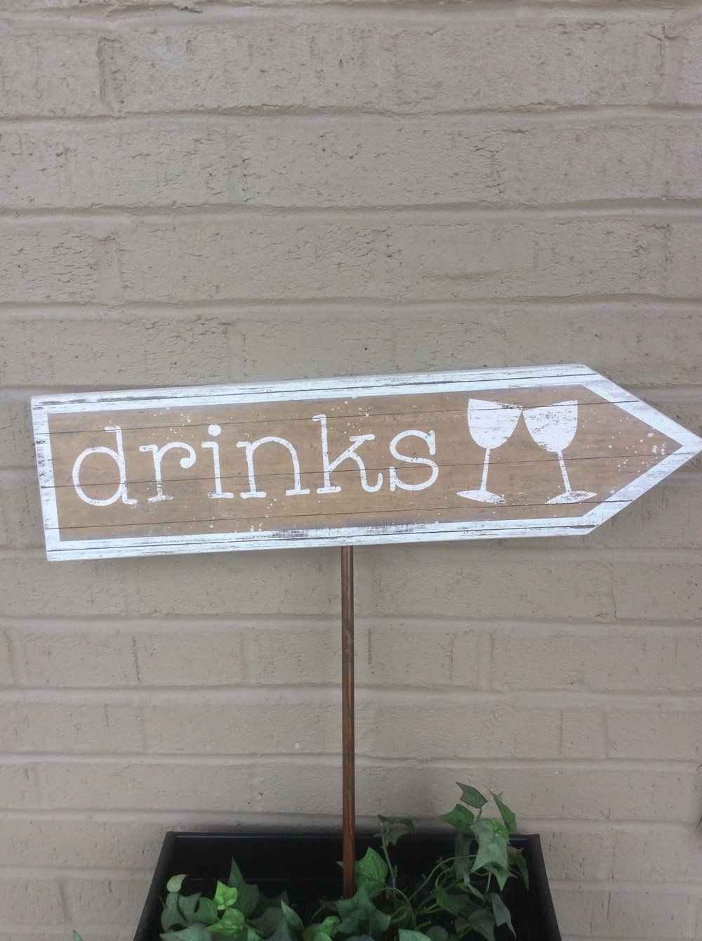 Drinks Yard Sign - Rental $10.00 each - 2 available