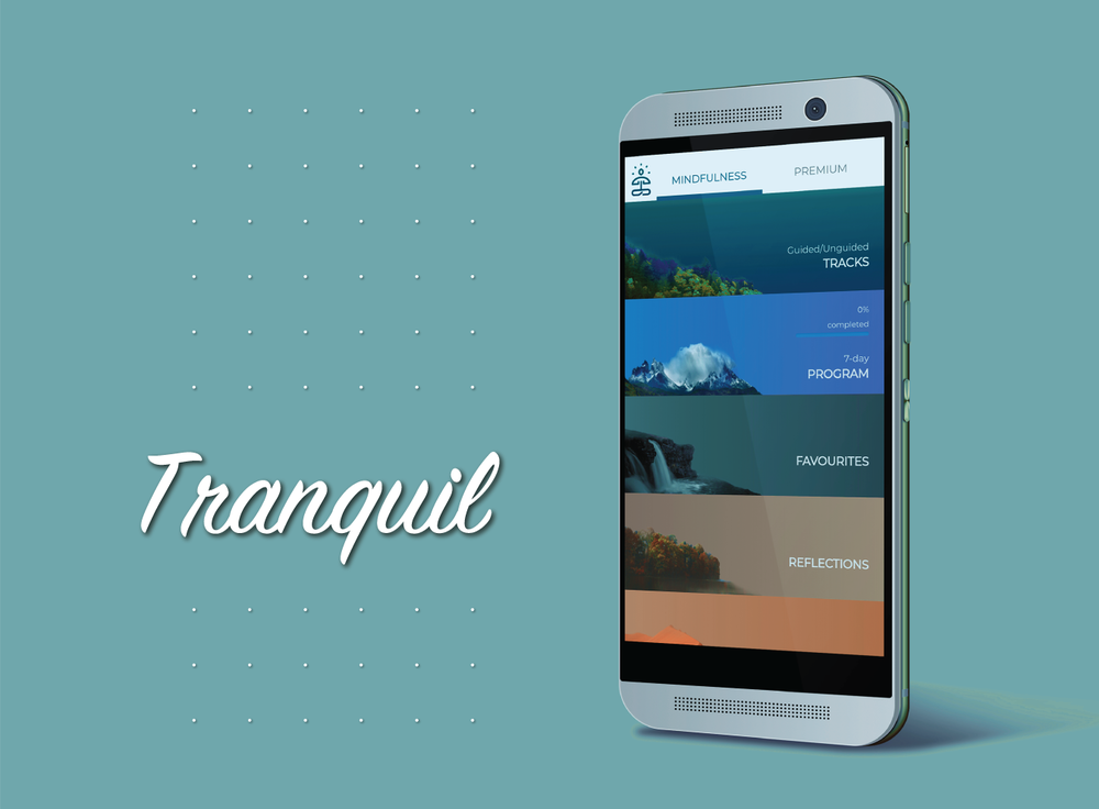 TRANQUIL:THE MINDFULNESS MOBILE APP - Let your mindfulness coach guide you through a series of self-exploratory tracks or become your own guide, choose your own pace, and become more aware of the present moment.Read More >>