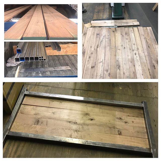 The start to a new project. #woodworking #steel #chicagowoodworking #chicagowoodworker #bedframe #handmade #blackwalnut
