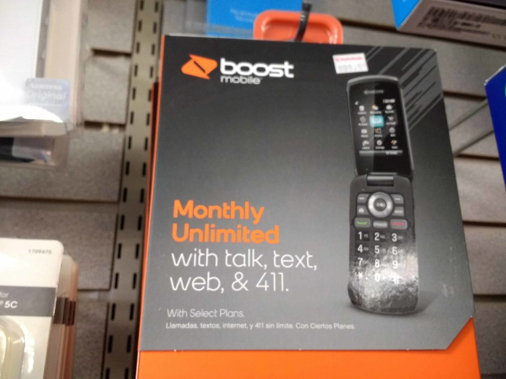 Our smartphone inventory includes Boost Mobile options.