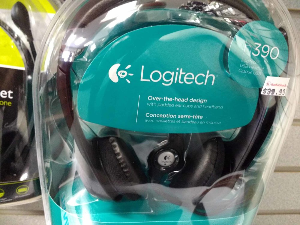 We stock a complete range of brand name headphones including this over-the-head model from Logitech.