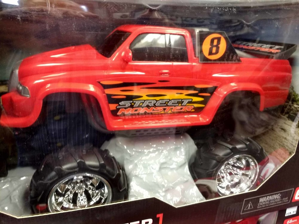 Street monster radio controlled truck.