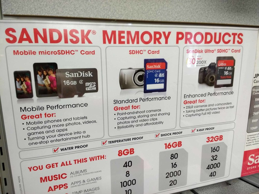 The best selection of SanDisk drives in Leelanau County.
