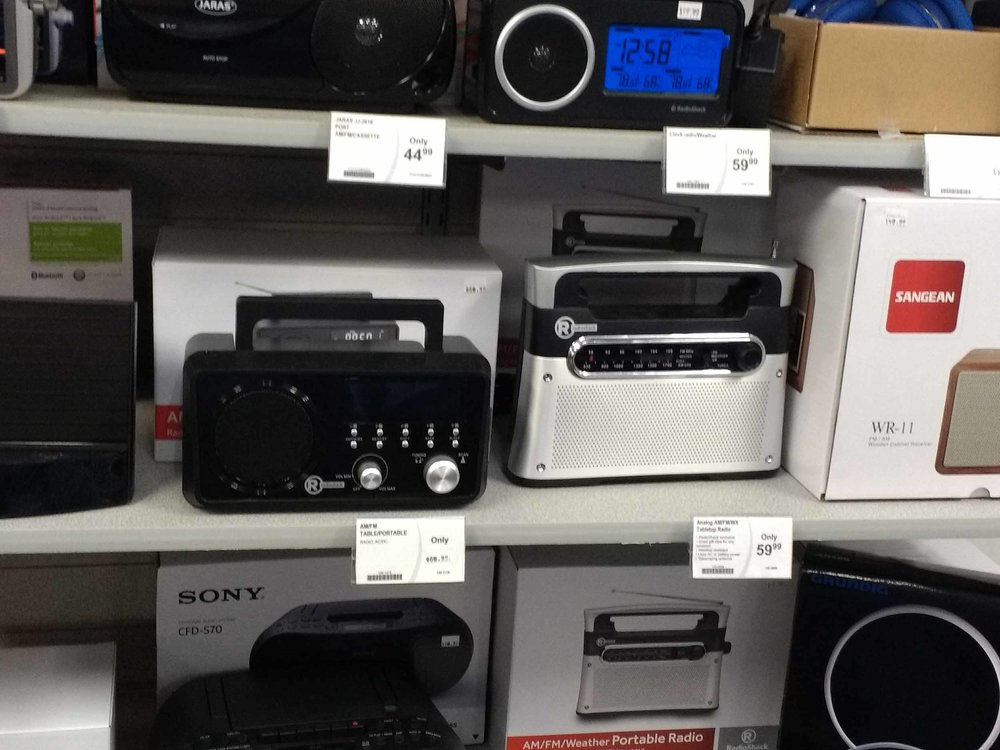 We have a complete selection of radios at RadioShack in Suttons Bay.