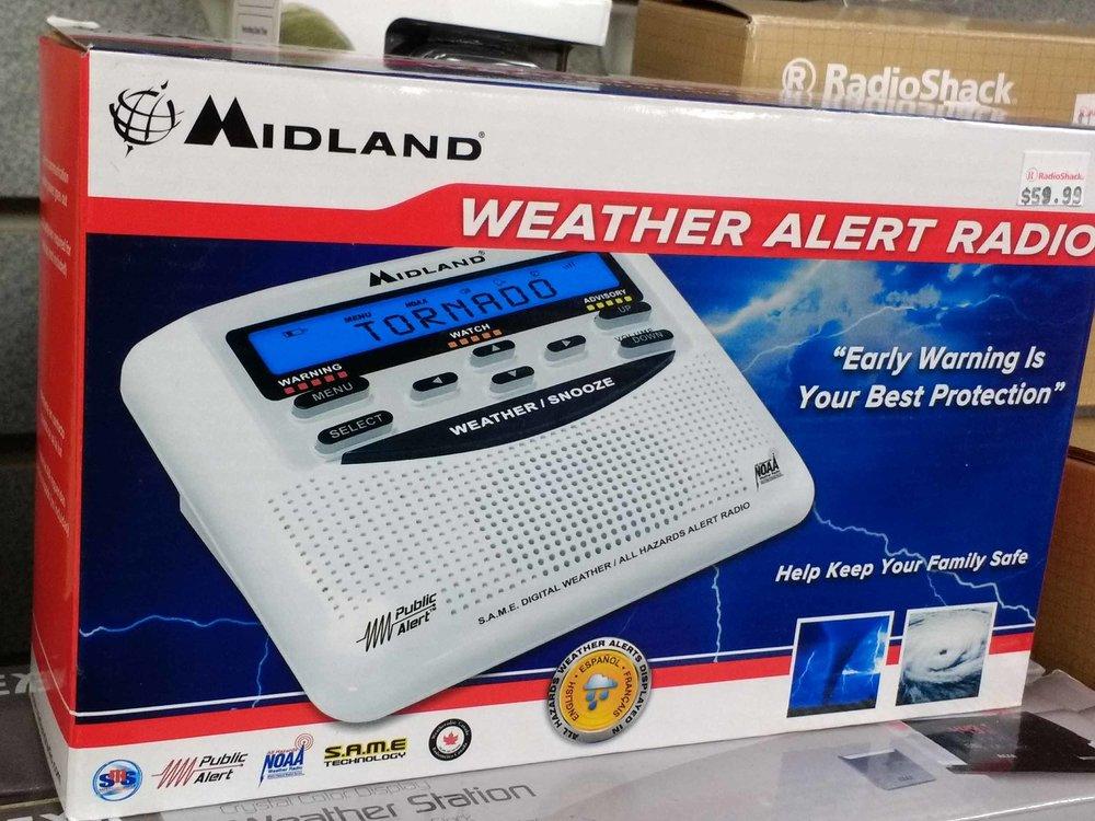 We stock weather alert radios