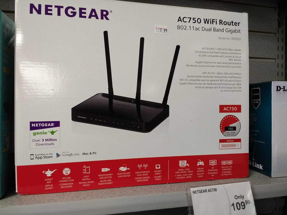 Netgear routers and other brand name options.