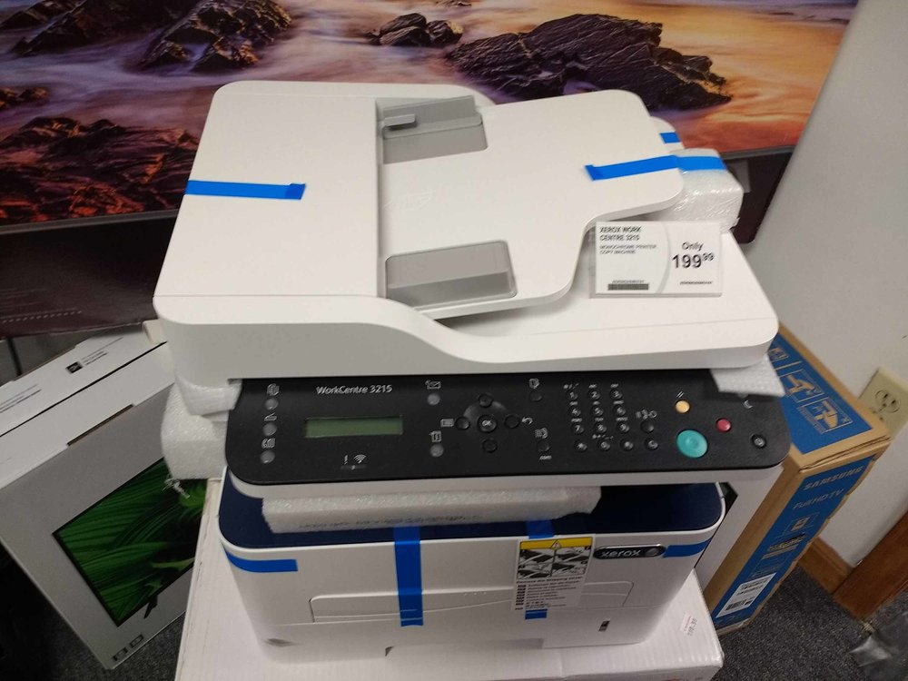 New HP printers and toner available.