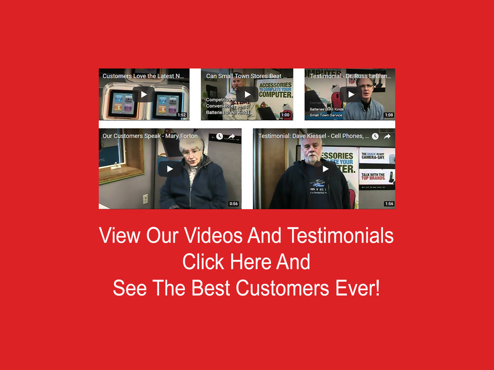 The best customers ever have put their reviews on video.