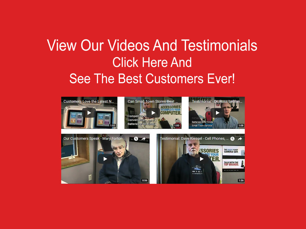 See the greatest customers in the world - view our video reviews and testimonials.