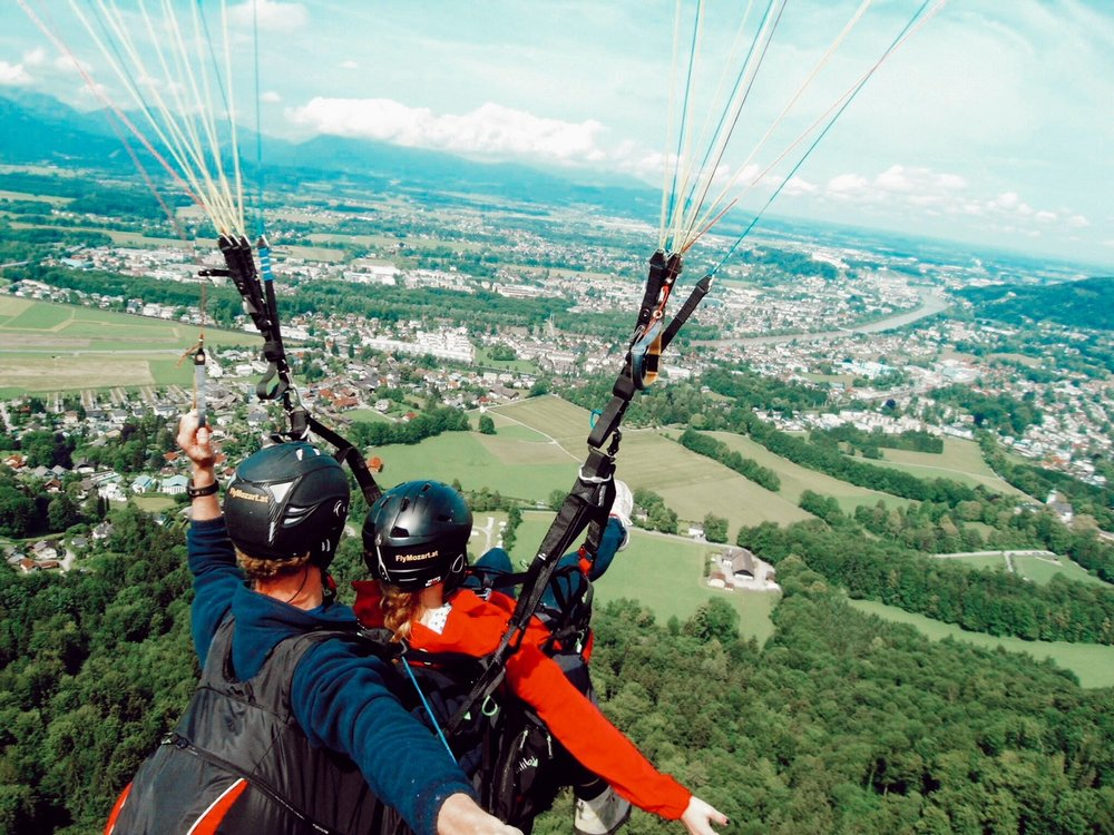 Paragliding in Austria on my 20th birthday!