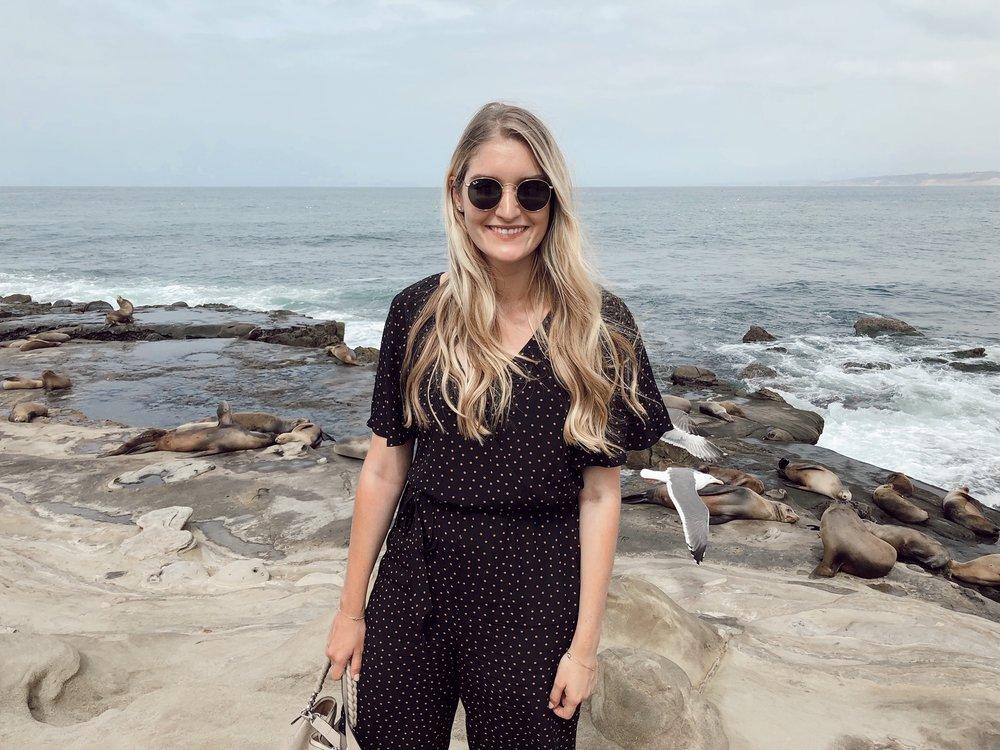 Wearing: jumpsuit ( similar ),  sunglasses