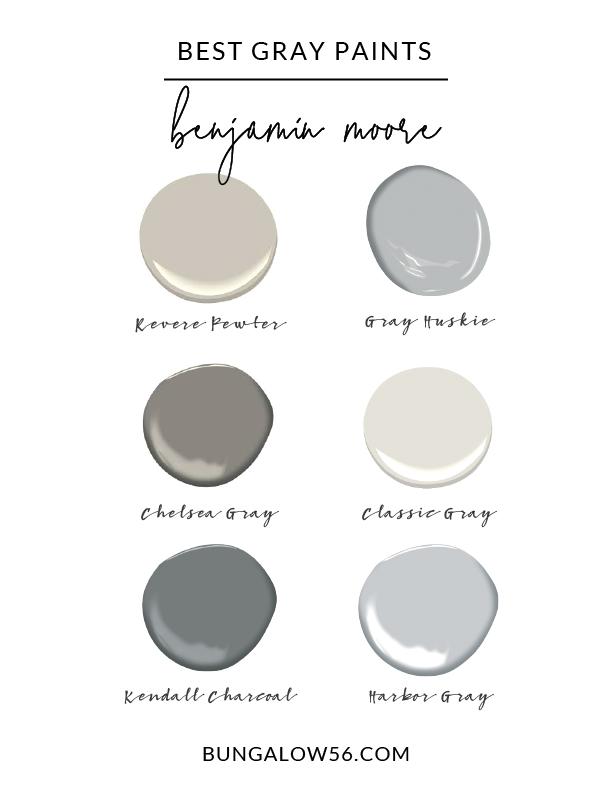 Best Gray Paint Colors Bungalow 56