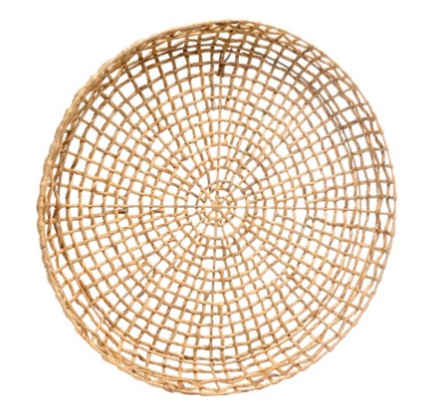 This giant basket is so gorgeous on a white wall. I love the organic textures and natural color.