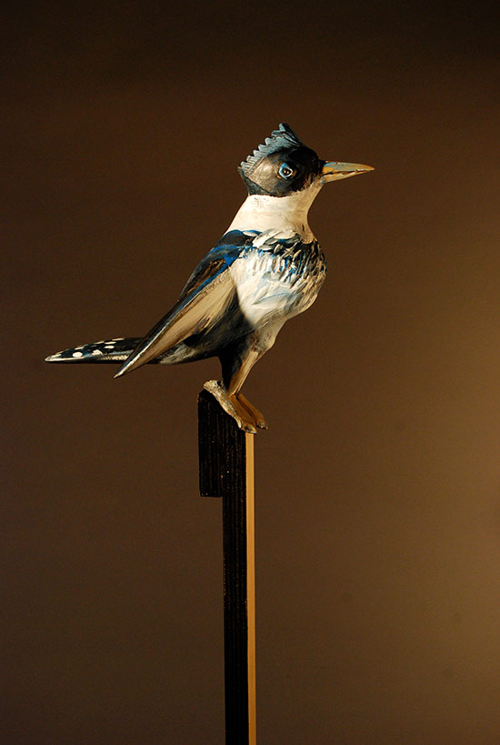 "Kingfisher, 2012 27""x9""x11"""